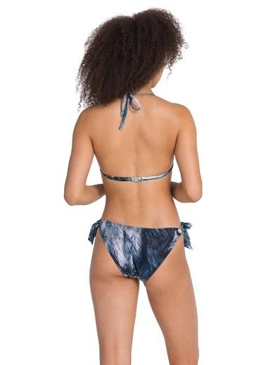 Dagi Kaplı Üçgen Bikini Takım Lacivert